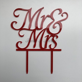 "Taart Topper Acryl ""Mr & Mrs"" (27)"