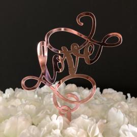 """Taart Topper Rose Spiegel Acryl """"Love"""" (9)"""