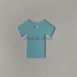 """Babyshower Tags """"Hemdje Blauw"""" (25 stuks)"""
