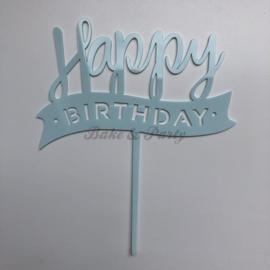"Taart Topper Acryl ""Happy Birthday"" (4)"