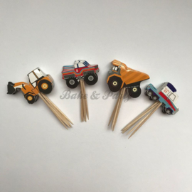 "Cupcake Toppers ""Trucks"""