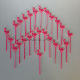 "Cupcake Toppers / Cocktail Prikkers ""Flamingo"""