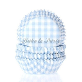House Of Marie - Gingham Pastel Blue