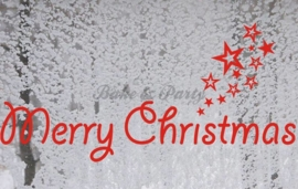 "Raam- / Muursticker ""Merry Christmas"" (1) Rood"