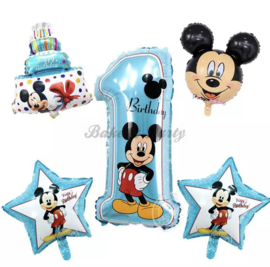 "Folie Ballonnen Happy Birthday ""Mickey Mouse"" (1)"