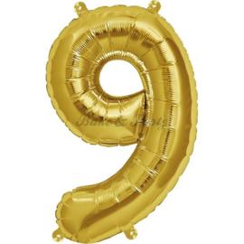 "Jumbo Folie Ballon ""9"" Goud"