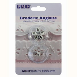 PME  - Square & 5 Petal Eyelet Cutters