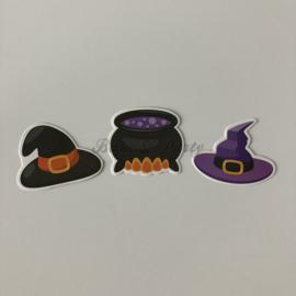 "Taart- / Cupcake Toppers ""Halloween"" (3) Carton (3 stuks)"