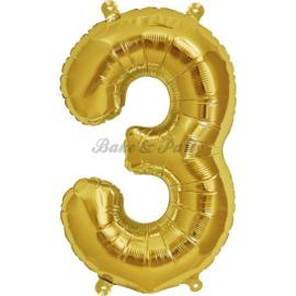 "Jumbo Folie Ballon ""3"" Goud"
