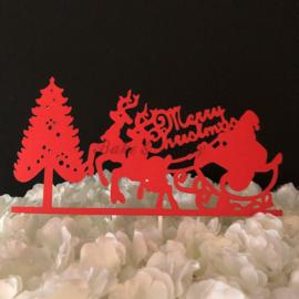 "Taart Topper Carton ""Merry Christmas"" (4)"