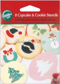 Wilton - Cupcake & Cookie Stencils (8 stuks)