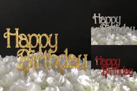 "Taart Topper Acryl ""Happy Birthday"" (2)"