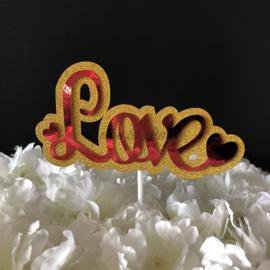 """Taart Topper Carton """"Love"""" (2)"""