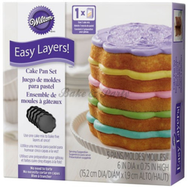 Wilton - Easy Layers Scalloped Cake Pan Set (5 stuks)