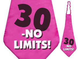 "Stropdas ""30 - No Limits!"""