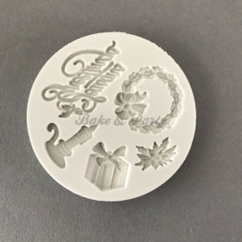 "Alphabet Moulds ""Seasons Greetings"" (AM045)"