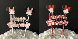 "Taart Topper Carton ""Happy Birthday"" (16)"