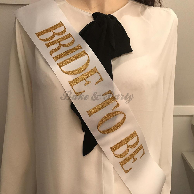 """Sjerp """"Bride to Be"""" Wit/Goud (5)"""