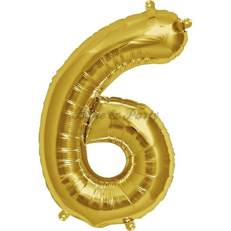 "Jumbo Folie Ballon ""6"" Goud"