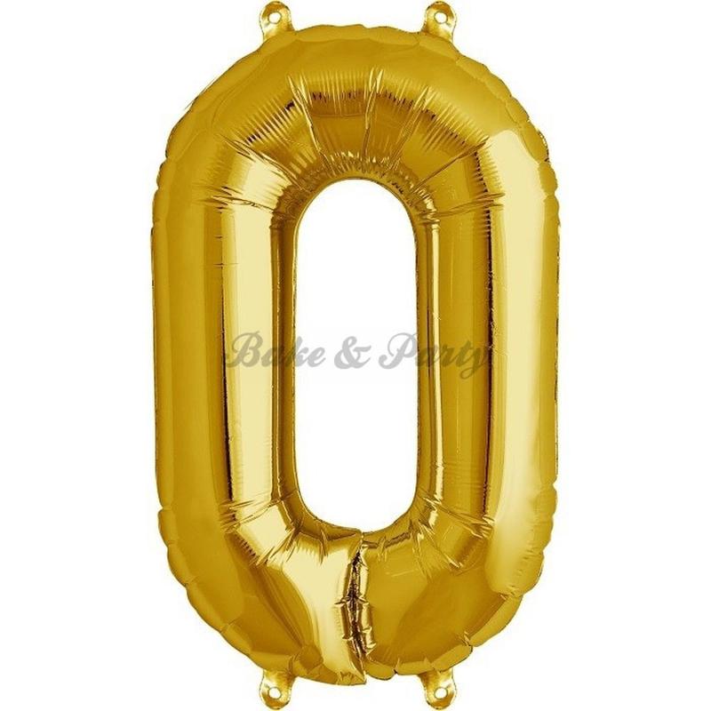 "Jumbo Folie Ballon ""0"" Goud"