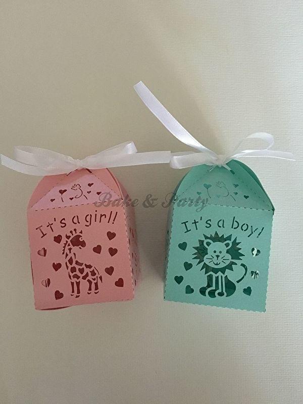 "Giftbox ""Leeuw  It's A Boy"" Blauw"