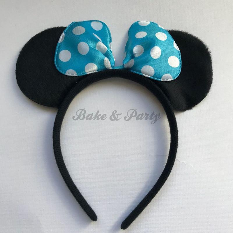 """Diadeem """"Minnie Mouse"""" (Blauwe Strik)"""