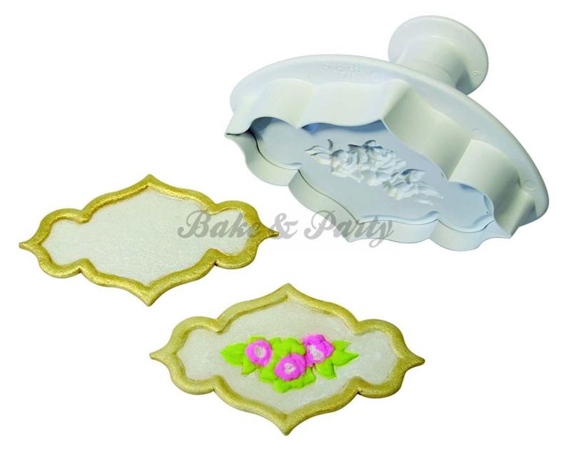 Plunger - PME  Creative Plaque Rose Spray & Plain Medium (2 stuks)