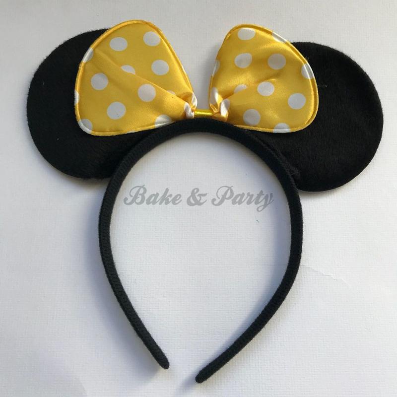 """Diadeem """"Minnie Mouse"""" (Gele Strik)"""