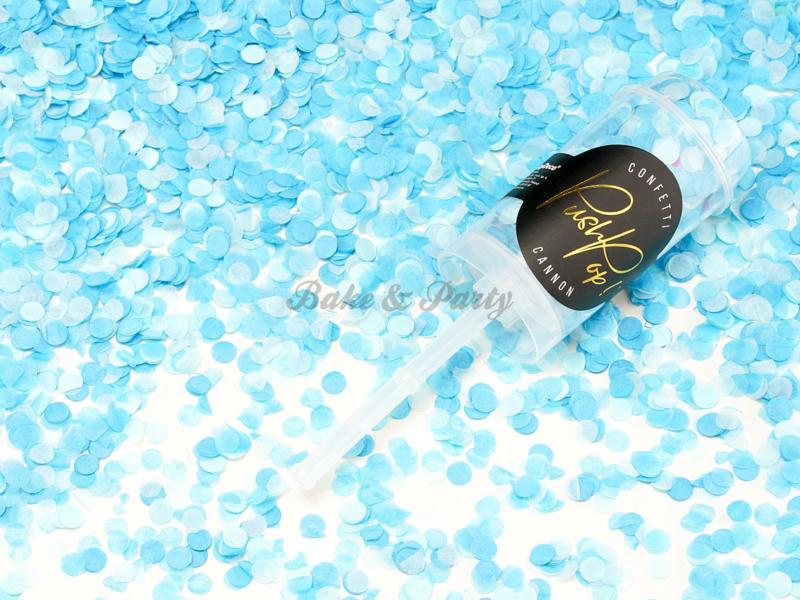 Confetti Push Pop Cannon Blauw