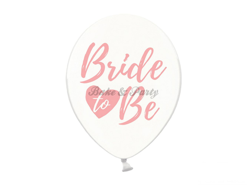"Latex Ballonnen ""Bride To Be"" Transparant/Roze"