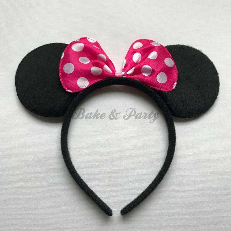 "Diadeem ""Minnie Mouse"" (Fuchsia Strik)"