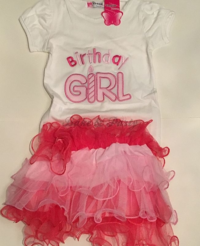 """T-shirt + Rokje  """"Birthday Girl"""" (Kids)"""