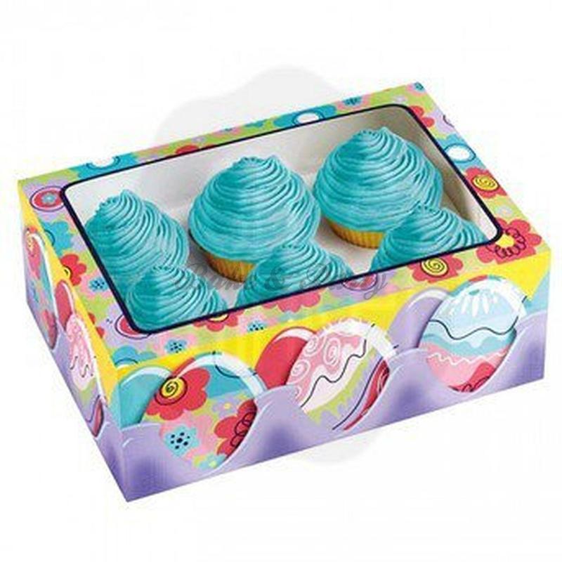 Wilton Easter Egg Mini Cupcake Boxes (3 stuks) - 17,7 x 12,7 x 6,3 cm
