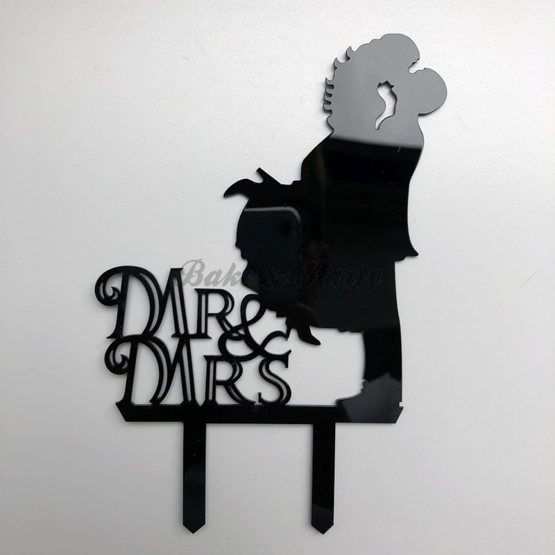 "Taart Topper Acryl ""Mr & Mrs"" (11)"