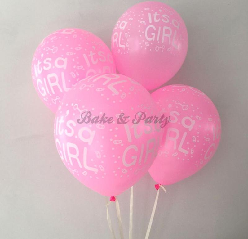 """Latex Ballonnen """"It's A Girl"""""""