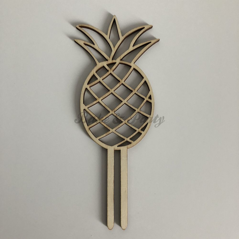 """Taart Topper """"Ananas"""" Hout"""