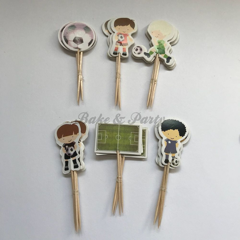 """Cupcake Toppers """"Voetbal"""" (1)"""