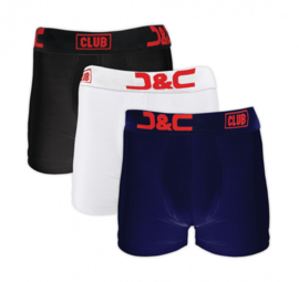 J&C Underwear Heren Boxershort 4485 3-Pack Wit