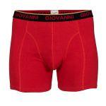 Giovanni Heren Boxershort Strak Rood/Zwart