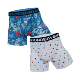Funderwear Heren Boxershort 2-pack Bloem-Dots