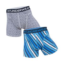 Funderwear Heren Boxershort 2-pack Geometric-Strepen