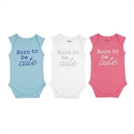 Fun2wear Romper Born To Be Cute Blauw