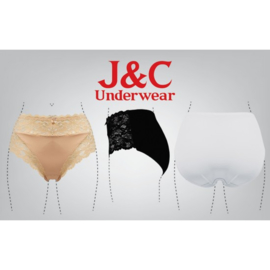 J&C Underwear Dames Slip 805 5-Pack Rood