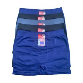 Men Microfiber Heren Boxer B06 5-Pak Blauw