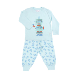Fun2wear Pyjama Robot Blauw