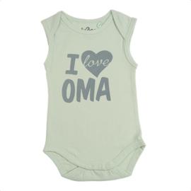 Fun2wear Romper I love Oma Groen