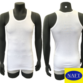 Naft Heren Singlet 6-pack Wit