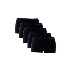 Sweet Angel Microfiber Zwart Meisjes Boxershorts XG-1080 5-Pack