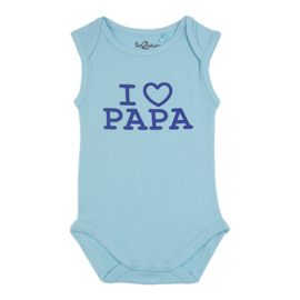 Fun2wear Romper I Love Papa Blauwe