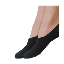 Korte Sneakersokken Footies 4-pack Zwart